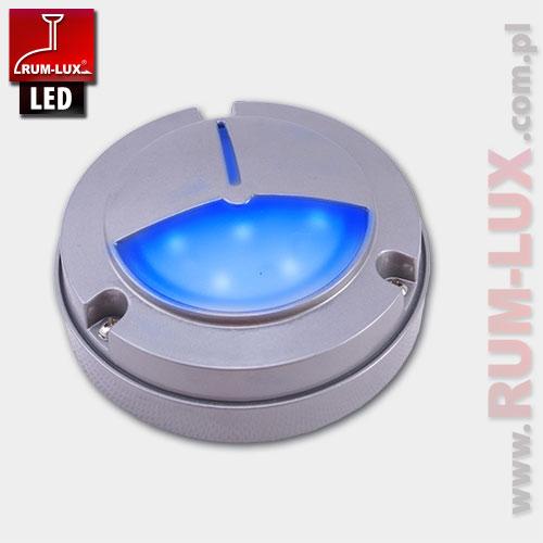 Oprawa LED-13 fasadowa [światło niebieskie | obudowa szara]